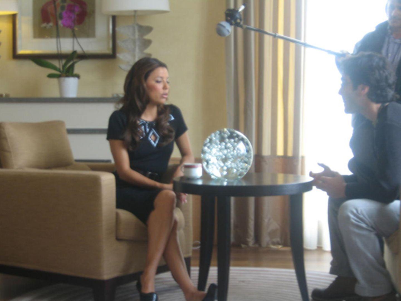 """Eva Interview: Exklusiv-Interview mit L'Oréal-Model und """"Desperate Housewifes""""-Star Eva Longoria in der Martinez-Suite im 7. Sto"""