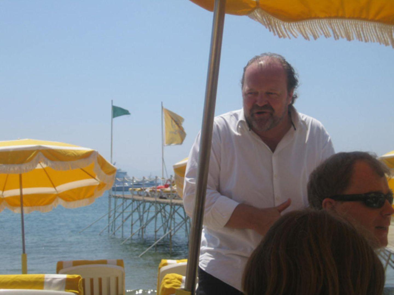 Die Stars genießen einmal ganz privat das schöne Wetter von Cannes.
