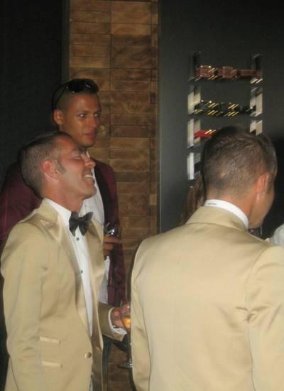 Die beiden Dsquared-Zwillinge Dean und Dan in ihrem neuen Shop an der Croisette.