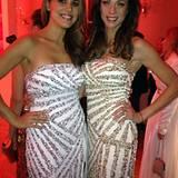 Schöner Zufall: Karen Webb und Lilly Becker haben sich haben sich bei einer Party am Barbaratag fürs gleiche Kleid entschieden.
