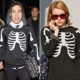 Pete Wentz und Emma Roberts haben zwar nicht das gleiche Geschlecht, dafür aber den gleichen Pullover.