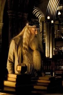Professor Dumbledore und Harry besprechen sich in dem Büro des Schulleiters.