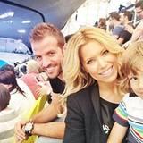 August 2012: Die van der Vaarts lassen sich die Olympischen Spiele in London nicht entgehen und nehmen mit Sohn Damian Platz auf