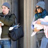Dezember 2009: Matthew Broderick und Sarah Jessica Parker zeigen sich mit ihren Zwillingen Marion und Tabitha beim Spaziergang in New York.