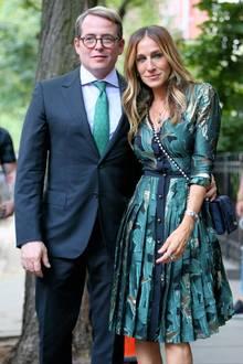 Juni 2016  Gemeinsame Auftritte sind selten: Matthew Broderick und Sarah Jessica Parker besuchen eine Spendenaktion für Hillary Clinton in der Harvey Weinstein Residenz in New York.