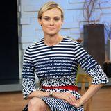 """Gestreift und gepunktet: Diane Kruger besucht im Preen-Kleid die """"Good Morning America""""-Show in New York"""