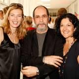 Gala-Vize-Chefredakteurin Astrid Sass mit François Girbaud und Muriel de Lamarzelle (M + F Girbaud).