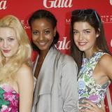 """Optische Highlights des """"Gala Fashion Brunchs"""": Die drei Erstplatzierten von """"Germany's Next Topmodel"""" - Mandy, Sara und Marie."""