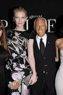 Viele Stars lieben den Maestro: Elsa Pataky, Cate Blanchett, Giorgio Armani und Megan Fox