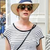 Anne Hathaway trägt gerne Hüte, nicht nur weil sie ihre zarte Haut vor der Sonne schützen, sondern manchmal auch davor erkannt zu werden.