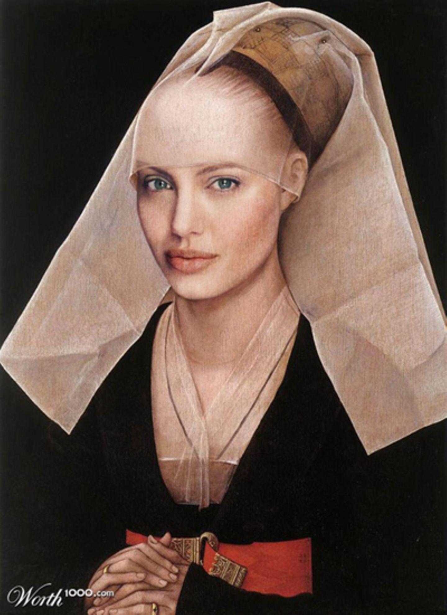 Angelina Jolie als Ölgemälde.
