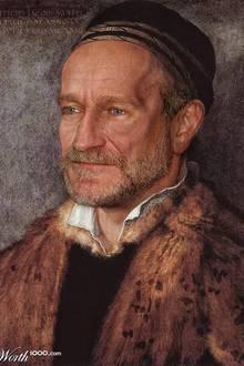 Robin Williams als Ölgemälde.