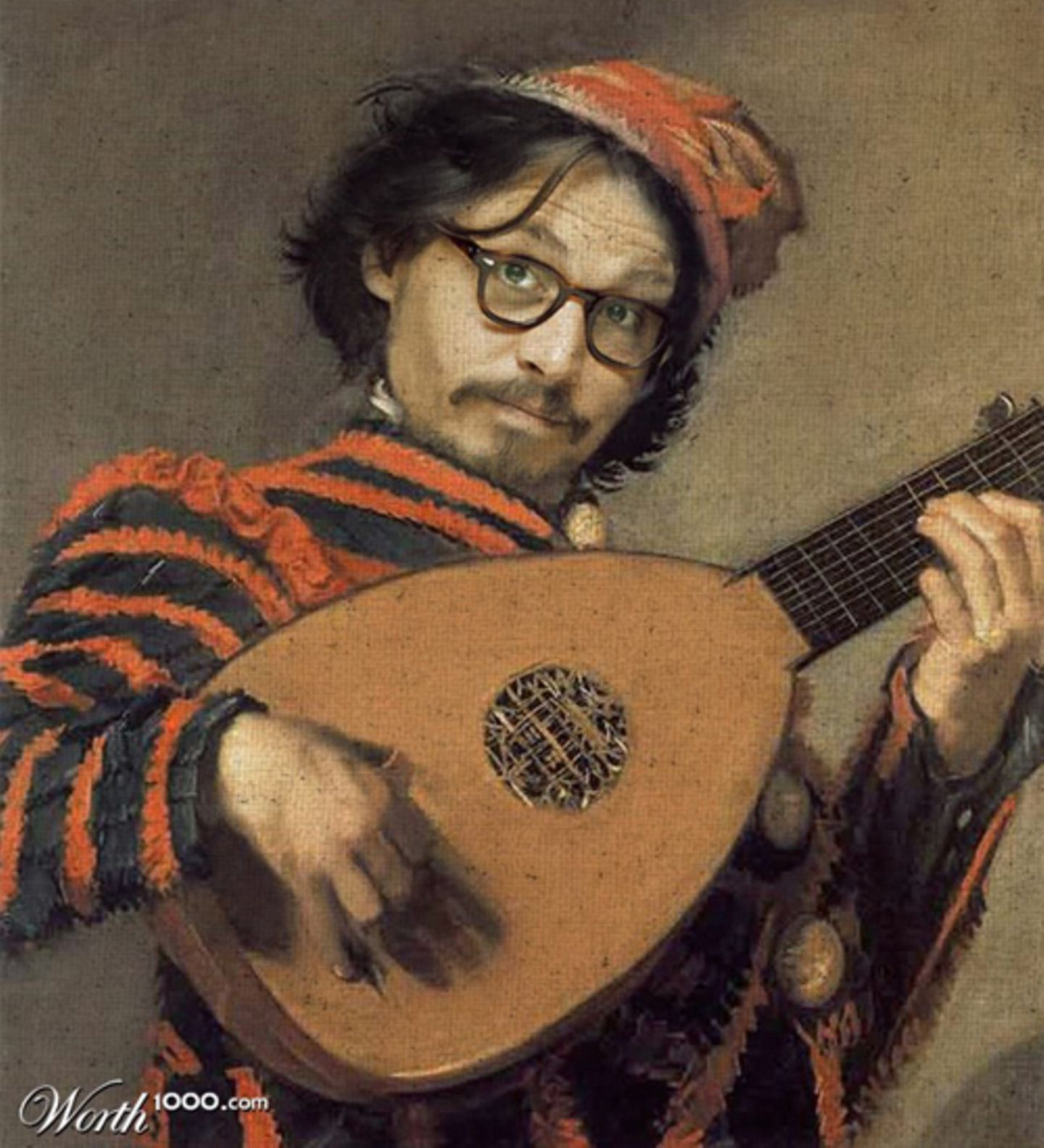 Johnny Depp als Ölgemälde.