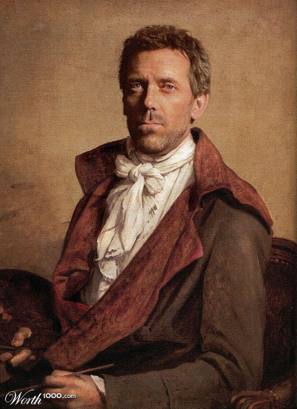 Hugh Laurie als Ölgemälde.