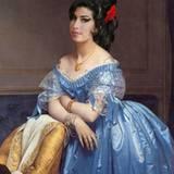 Amy Winehouse als Ölgemälde.