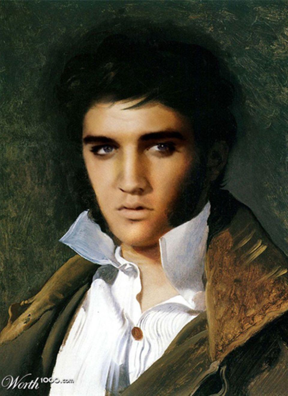 Elvis Presley als Ölgemälde.