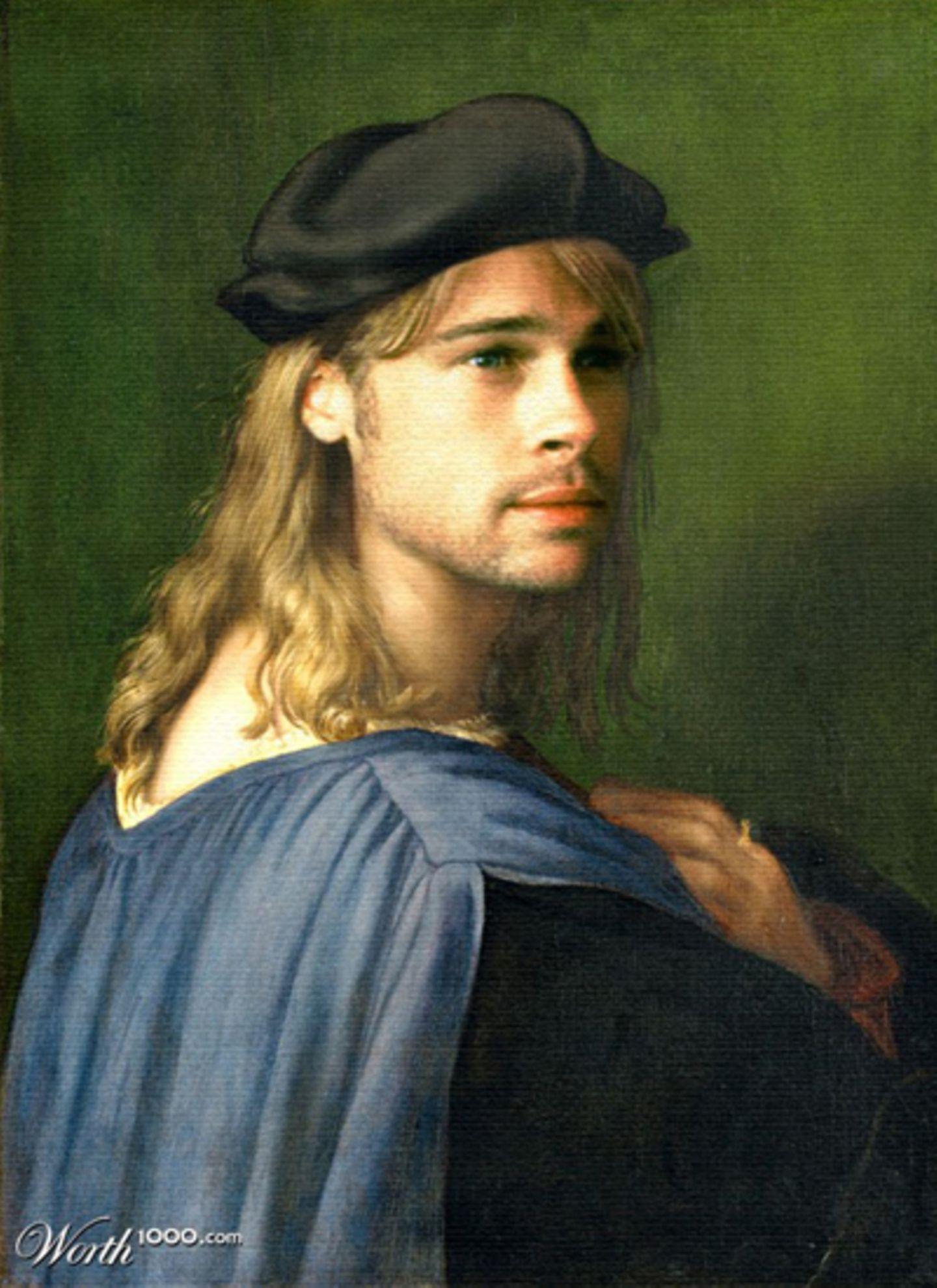 Brad Pitt als Ölgemälde.