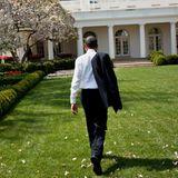"""""""Home sweet home"""", twittert der US-Präsident nachdem er wieder sicher von seiner Auslandsreise nach Europa im Weißen Haus angekommen ist."""