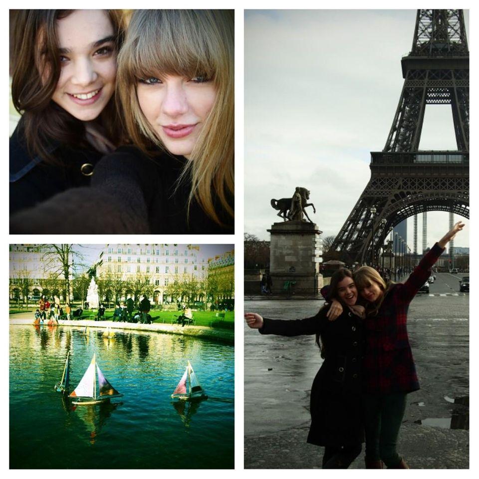 Taylor Swift und Hailee Steinfeld verbringen einen gemeinsamen Tag in Paris.