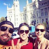 Oktober 2013  Sami Khedira und Lena Gercke machen Madrid unsicher.