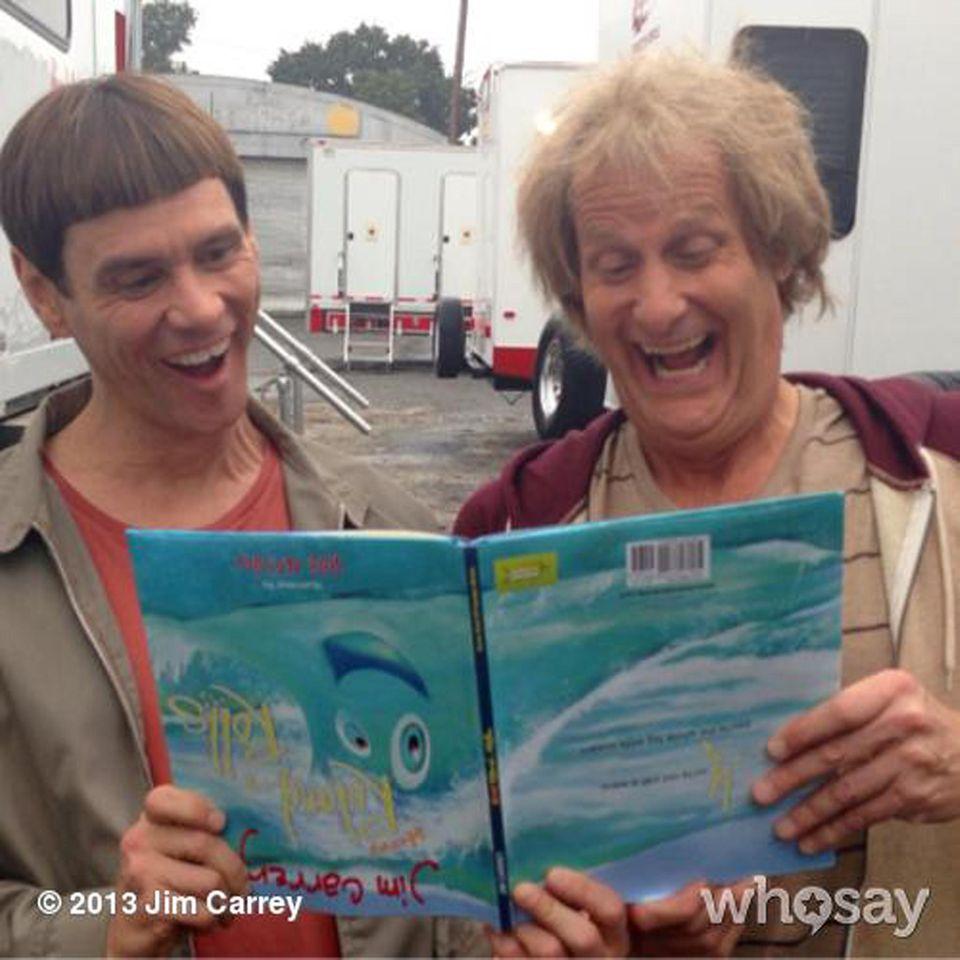 """September 2013  Das wird die Fans von """"Dumm und Dümmer"""" freuen: Jim Carrey und Jeff Daniels drehen den zweiten Teil der Kult-Komödie."""