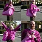 """Oktober 2013  Nach dem Serienende von """"Breaking Bad"""" twittert Aaron Paul dieses Bild von Bryan Cranstaon alias Walter White mit der Unterschrift """"Ich vermisse diesen Mann""""."""