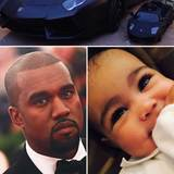 Dezember 2013  Wie der Vater - so die Tochter. Kim Kardashian teilt über Instagram ein Foto vom Wagen ihres Freunds Kanye West und dem kleineren Pendant ihrer Tochter North.
