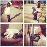 Oktober 2013  Lena Meyer-Landrut teilt auf ihrem Instagramprofil gerne Fotos von sich.