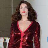 Fashion-Trend Pailletten: Gemma Arterton zeigt sich bei den Brit Awards in einem auffälligen Pailletten-Ensemble von Jonathan Saunders.