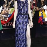 Kristen Stewart ist der Star ihrer Premierenfeier. Das betont zusätzlich ihr geschlitzes Pailettenkleid.