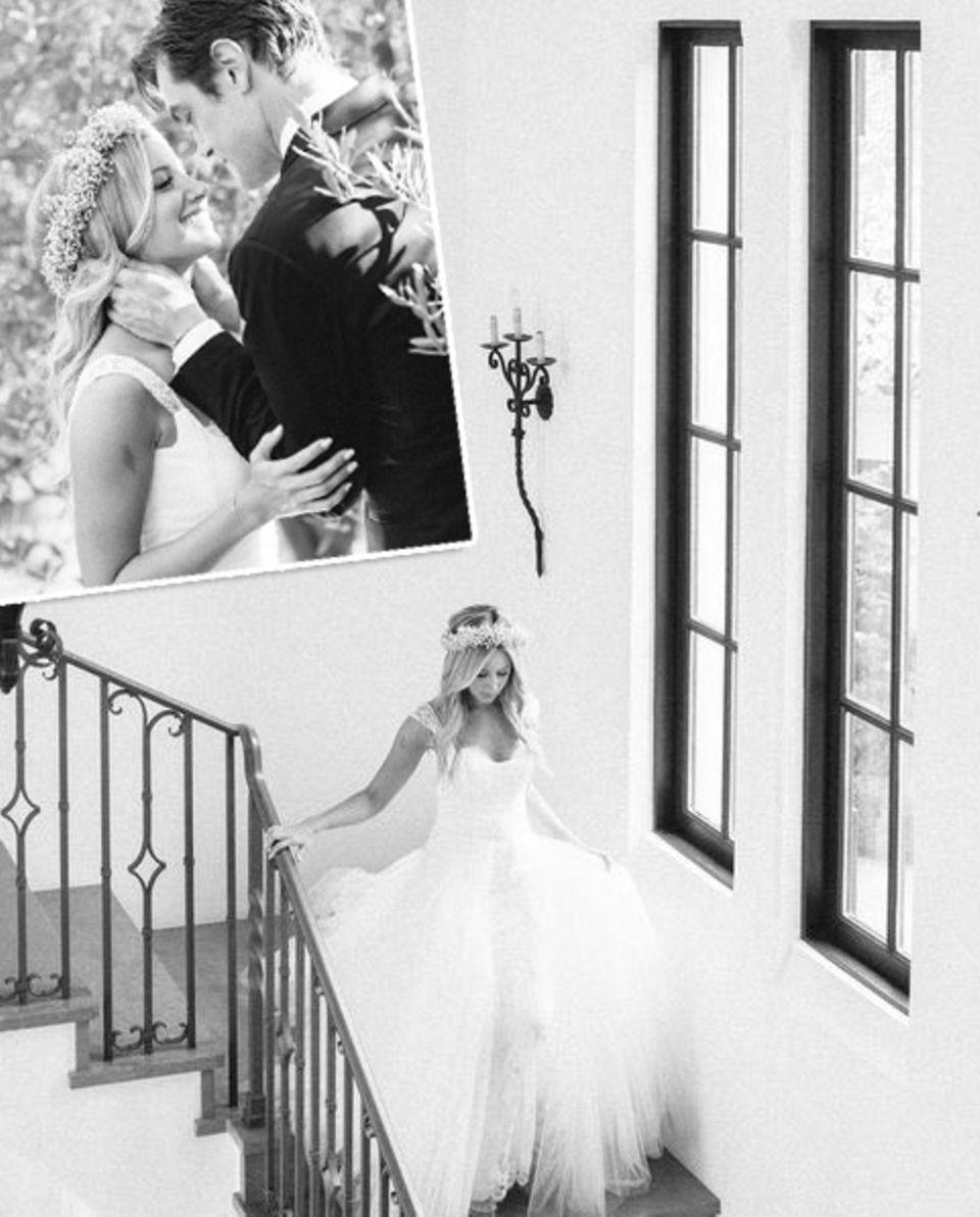 8. September 2015: Ashley Tisdale gratuliert ihrem Ehemann zum einjährigen Hochzeitstag mit diesen Bildern.