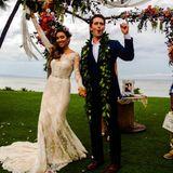 """18. Oktober 2014: """"Glee""""-Star Matthew Morrison und seine Angetraute Renee Puente feiern ausgelassen ihre Hochzeit auf Maui, Hawaii."""