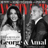 """7. Oktober 2014: Die italienische """"Vanity Fair"""" widmet der Hochzeit von Amal Alamuddin und George Clooney 30 Seiten."""