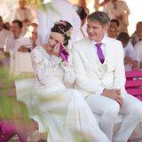 12. September 2015: Jasmin Wagner und Frank Sippel geben sich zum zweiten Mal das Ja-Wort - diesmal kirchlich und ganz in Weiß. Rund 400 Gäste kommen zur Zeremonie in Berlin-Schöneberg.