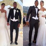 25. Juni 2016: Auf Sardinien heiratet Jérômes Halbbruder Kevin Prince Boateng seine Liebste Melissa Satta. Das Paar hat einen gemeinsamen Sohn, den kleinen Maddox Prince.
