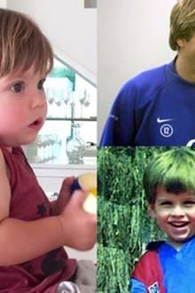 24. Juli 2016: Mama Shakira ist es aufgefallen: Ihr jüngster Sohn Sasha Piqué Mebarak hat die Haare seines Papas Gerard Piqué.