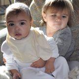 """24. Januar 2014: """"Best Friends Forever"""" - Kim Kardashian postet ein Foto von Tochter North und ihrer Cousine Penelope Disick."""