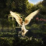 """Jette Joop wird passend zum Motto der Aktion """"be an angel"""" himmelsnah dargestellt. Enriko Böttcher wählt klassische Formen der c"""