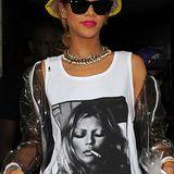 Rihanna hat sich schon öfter als Fan von Kate Moss geoutet, wenn man ihre Supermodel-Shirts als Liebesbeweis deutet. Davon hat sie nämlich nicht nur eins im Kleiderschrank hängen.