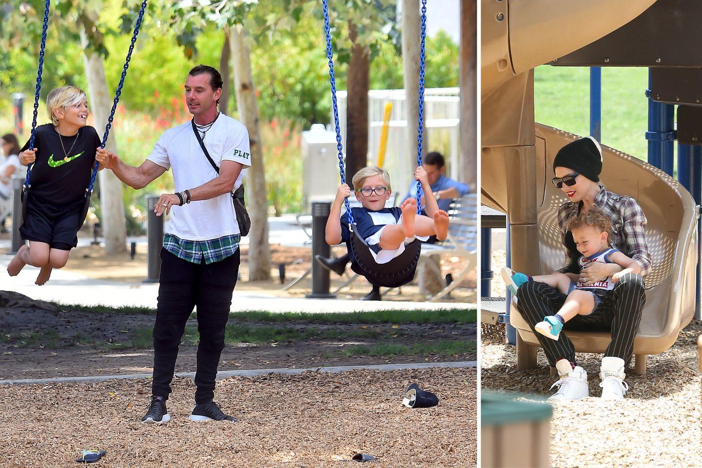 30. Mai 2015  Gwen Stefani und Gavin Rossdale verbringen mit ihren Sprösslingen einen Tag auf dem Spielplatz in Beverly Hills.