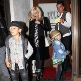 """30. Oktober 2013  An seinem 48. Geburtstag führt Gavin Rossdale seine Familie in sein Lieblingsrestaurant """"Madeo"""" in West Hollywood."""