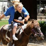 4. Juli 2013  Am Independence Day geht Mama Gwen mit Kingston und Zuma zum Reiten in den Griffith Park in Los Angeles. Einer ihrer Söhne hat dabei allerdings offenbar mehr Spaß als der andere.