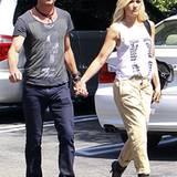 12. September 2012: Gavin Rossdale und Gwen Stefani sind händchenhaltend in Los Angeles unterwegs.