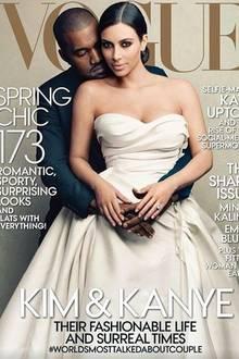 """Was genau für Kim Kardashian bei dem """"Vogue""""-Cover-Shooting außer der großen Ehre und der Erfüllung ihres Traums herausgesprungen ist, bleibt ein Geheimnis. Das Posieren für andere Magazin-Fotos machte die Fashionista innerhalb von einem Jahr jedoch um 200.000 Euro reicher."""