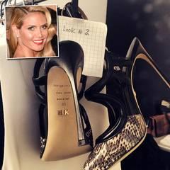 Extra für Heidi Klum! Für die Sergio-Rossi-Pumps im Schlangenleder-Look bedankt sie sich dann auch mit diesem Foto auf ihrem Instagram-Profil.