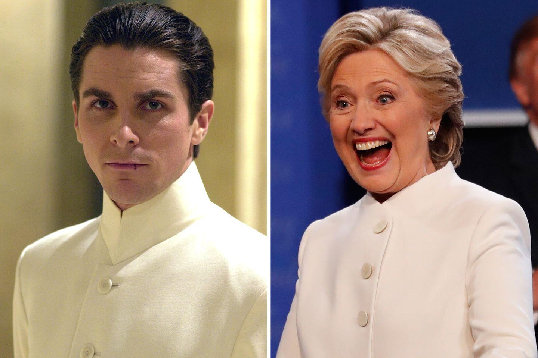 """... Viele User ziehen den Vergleich zu Christian Bale im Film """"Equilibrium"""". Das findet anscheinend auch die Präsidentschaftskandidatin ziemlich lustig."""