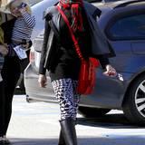 Die schwarzen Gummistiefel eignen sich hervorragend für die Familienausflüge von Gwen Stefani.
