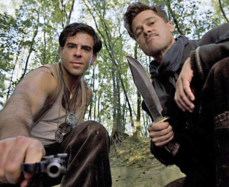 """20. August 2009: Quentin Tarantinos neuer Streifen """"Inglourious Basterds"""" mit Eli Roth und Brad Pitt startet in Deutschland."""