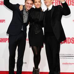 """Friedrich Mücke, Alicja Bachleda und Matthias Schweighöfer spielen die Hauptrollen in der Komödie """"Friendship""""."""