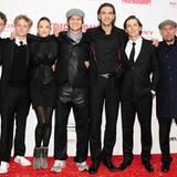 """Das """"Friendship""""-Team: Friedrich Mücke, Matthias Schweighöfer, Alicja Bachleda, Markus Goller, Max Wiedemann, Quirin Berg und To"""